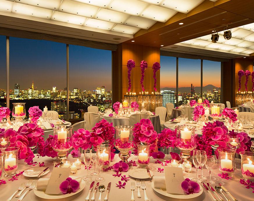 結婚式場東京ドームホテルの披露宴会場からの景色